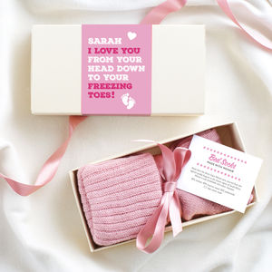 I Love Every Part Of You Bed Socks - women's fashion