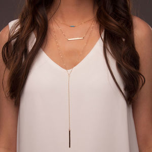 Layered Gold Or Silver Bar Necklace Set - necklaces & pendants