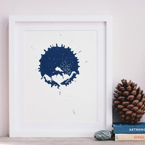 Worlds In An Inkdrop Mountains Screenprints