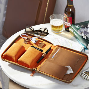 Personalised Luxury Leather Tech Case For Him - original corporate gifts
