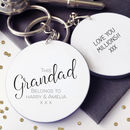 This Grandad Belongs To… Personalised Message Keyring