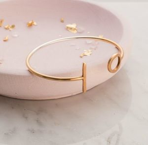 Personalised Dot And Dash Open Bangle - bracelets & bangles