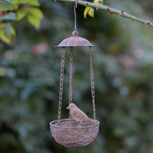 Little Bird Nest Hanging Feeder