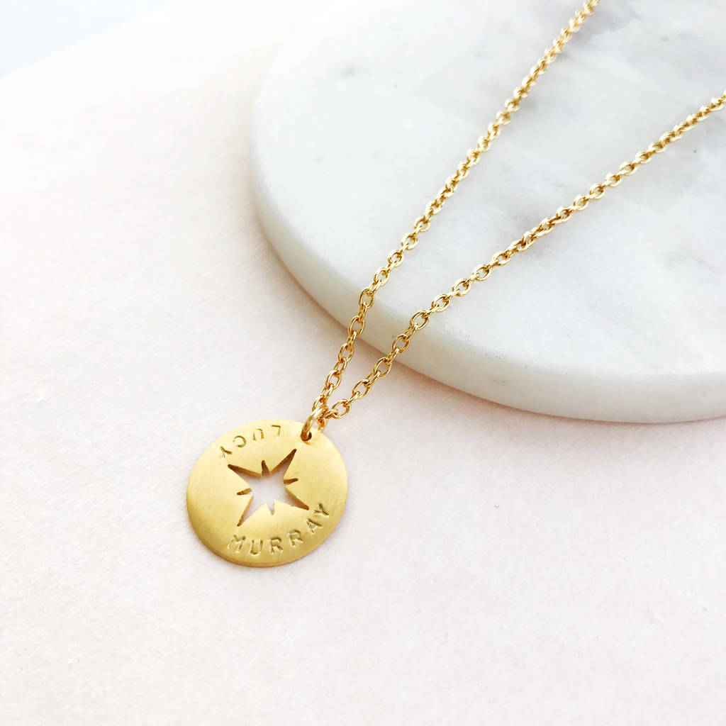 with be courageous reverse on strong joshua products graduation necklace gold s women inscribed womens compass