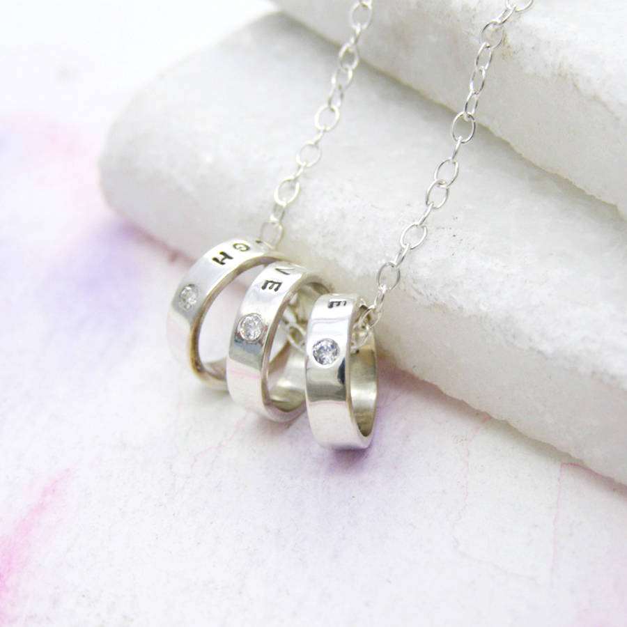 h mini hoop necklace family links jewellers t london baker silver of