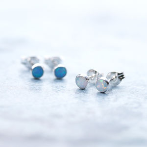 Tiny Delicate Opal Earrings