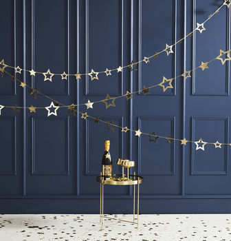 Gold Foiled Star Garland Hanging Decoration