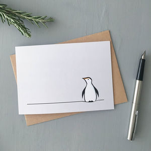 Penguin Cards, Pack Of Four