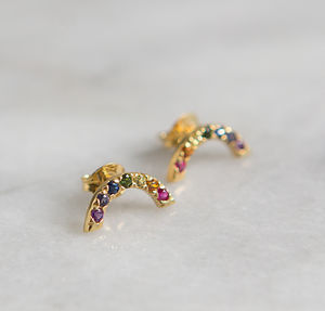 Rainbow Stud Earrings - earrings