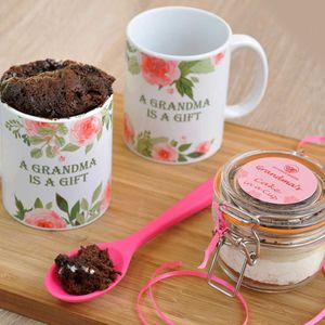A Yummy Chocolate Mug Cake Set Specially For Grandma