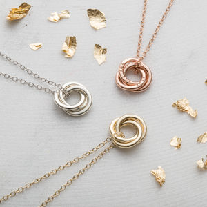 Personalised Mini Russian Ring Necklace - rose gold jewellery