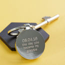 Personalised Day You Became My Daddy Keyring