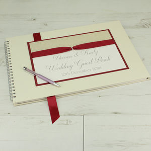 Personalised Large A3 Luxury Wedding Guest Book - guest books