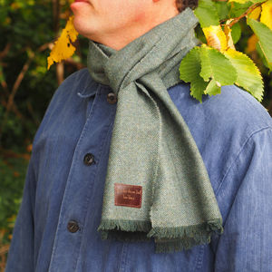 Personalised Lambswool Message Scarf - free delivery gifts to mainland UK