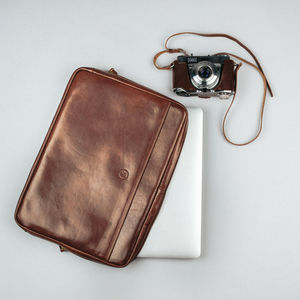 Luxury Italian Leather Laptop Case For Macbook - tech accessories