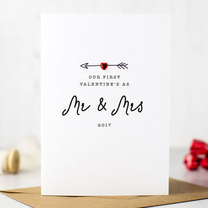 'First Valentine's As Mr And Mrs' Card