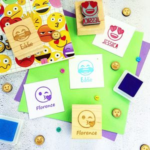Emoji Personalised Rubber Stamp - shop by category