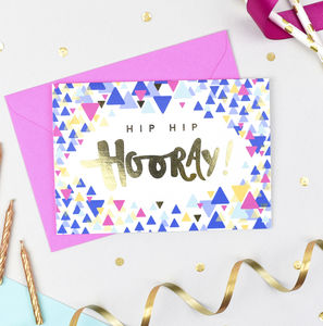 'Hip Hip Hooray!' Celebration Card - what's new