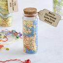 Personalised Map Message Bottle Keepsake Token Gift