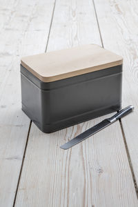 Borough Bread Box In Charcoal - kitchen