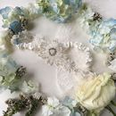 Shine Beaded Flower Garland Bridal Garter