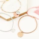 Personalised Dainty Links Bracelet With Name Disc - jewellery