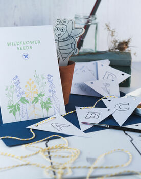 Childrens Grow Your Own Wildflowers And Bunting