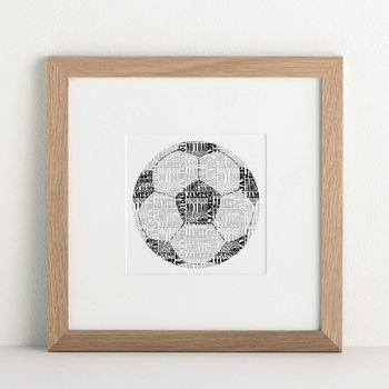 Personalised Football Print from Letterfest