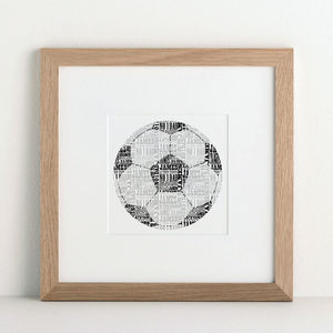 Personalised Football Print - sports fan