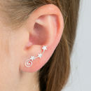 Stars Spiral Climber Earrings