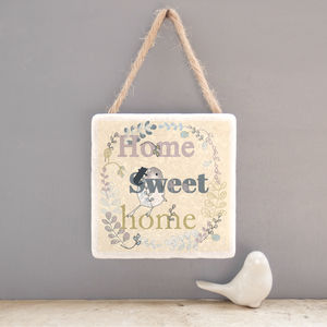 Home Sweet Home Marble Wall Art - hanging decorations