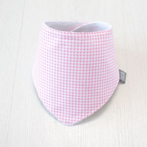 Cotton/Bamboo Dribble Bib Pink Gingham