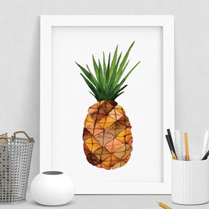 Pineapple Print Watercolour - nature & landscape