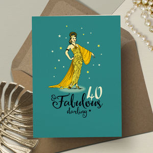 40th Birthday '40th And Fabulous' - birthday cards