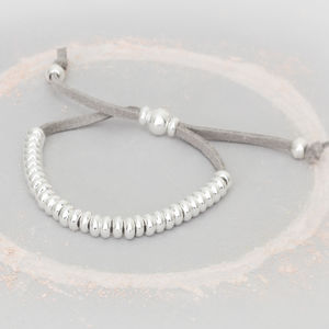 Silana Personalised Silver Friendship Bracelet - summer sale
