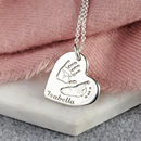 Personalised Silver Hand Print And Footprint Necklace