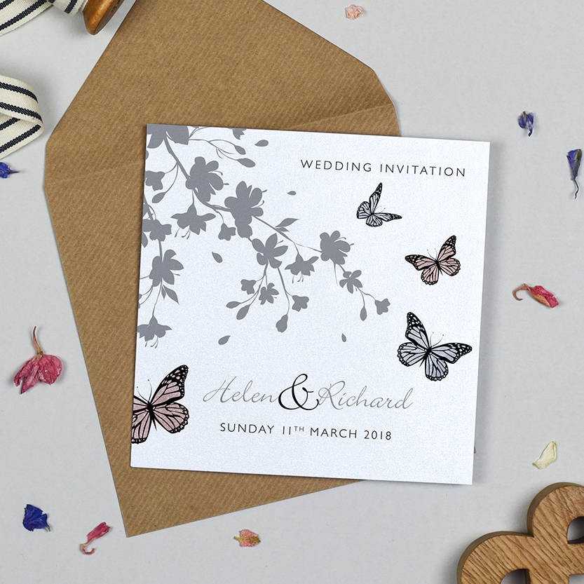 Butterfly Themed Wedding Invitations: Butterfly Wedding Invitation By Michelle Fiedler Design