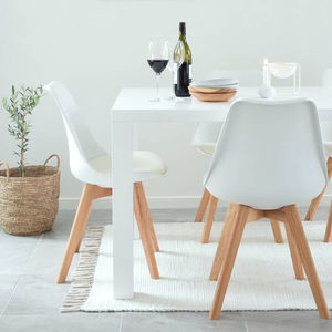 Inspirational Winter White Dining Chairs Set Of Two - kitchen