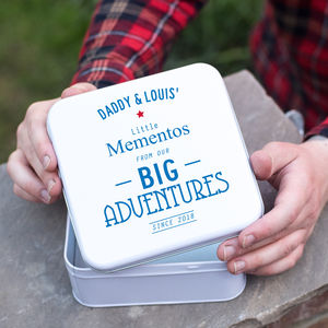 Fathers Day Tin For Keepsakes - gifts for him