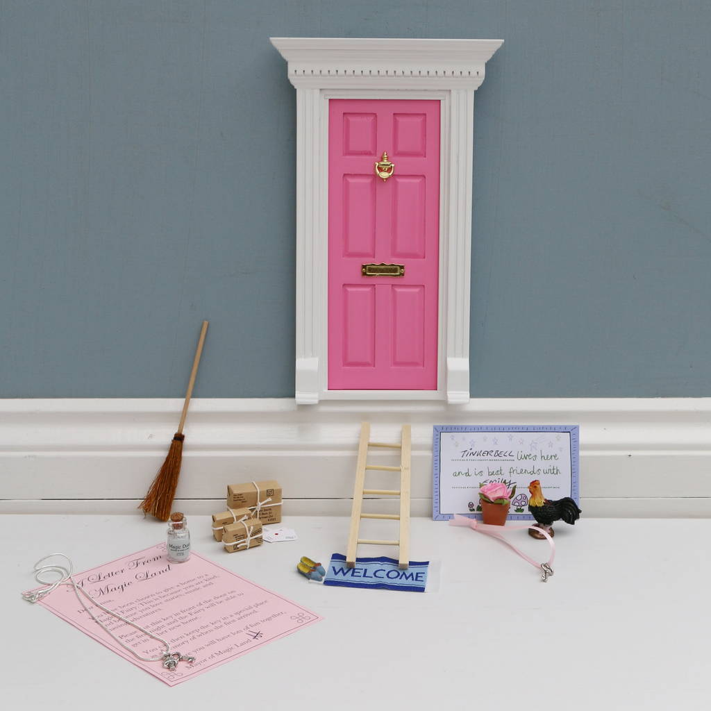 Magical fairy door and necklace gift set by magical little for Fairy door gift set