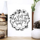 'Wandering Soul' Floral Typography Print