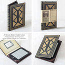 Black and Gold Book Style Cover for Kindle eReaders and Tablets