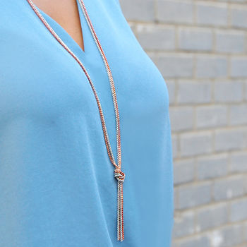 Rose Gold & White Necklace