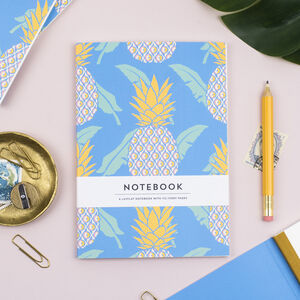 Pineapple Pattern Paperback Swiss Bound Notebook