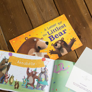 A Letter For The Littlest Bear Personalised Book - christening gifts
