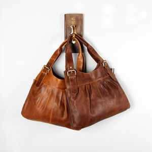 Leather Pleat Tote