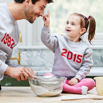 Children's Personalised 'Year' Unisex Sweatshirt