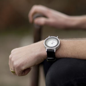 Anti Series Watch With Leather Strap