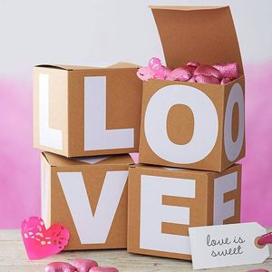 Alphabet Gift Box - party styling