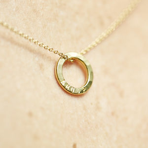 Personalised Satin Hammered Mini Message Necklace - necklaces & pendants